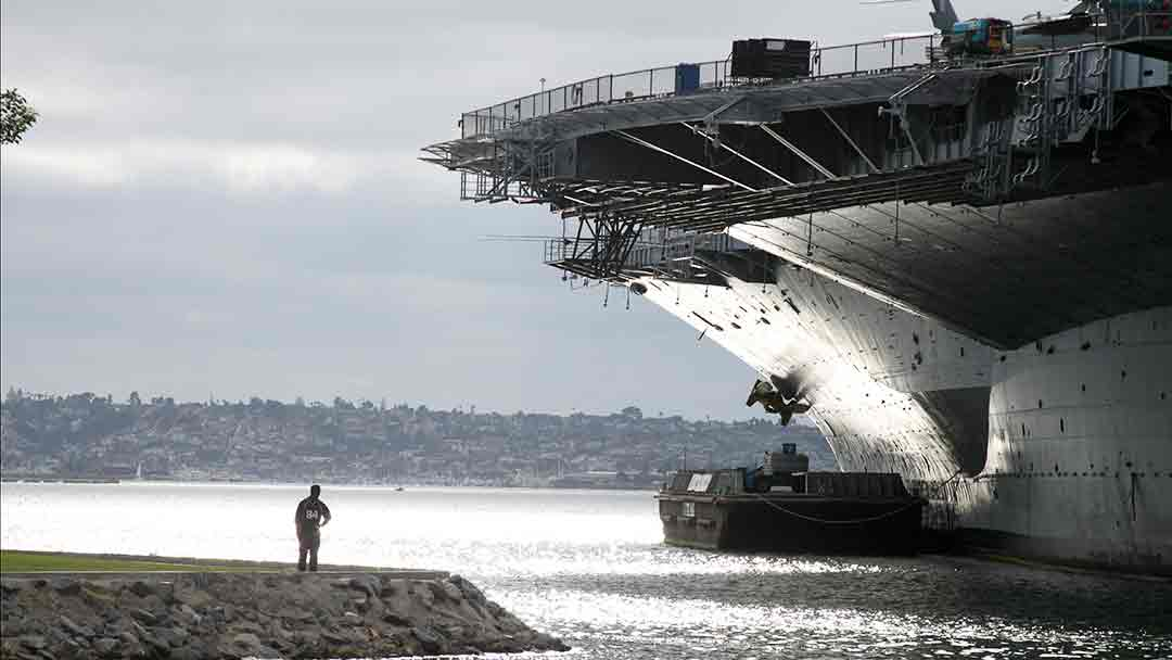The Midway aircraft carrier