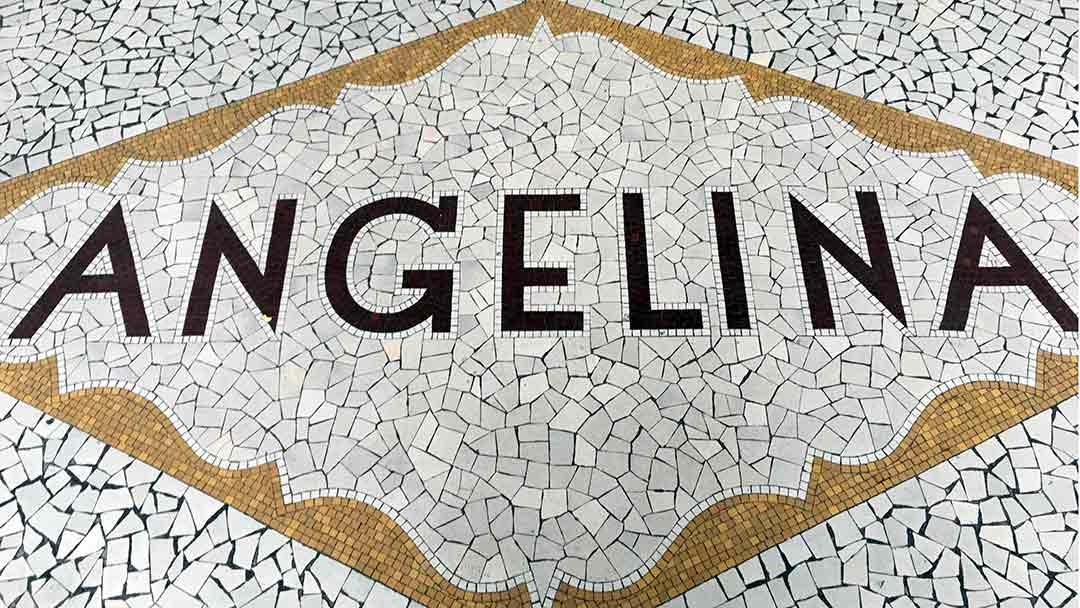 Angelina Tea house entry tile